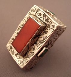 Iran | Ring; silver, turquoise and carnelian stone | ca. 50 years old | 400€