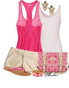 """""""Pink Aztec"""" by stay-at-home-mom ❤ liked on Polyvore"""
