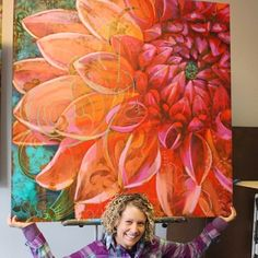 Here's the effervescent artist Ali Kay of Positive Space with one of her incredible canvas pieces incorporating our Metal Effects patinas. Art And Illustration, Art Floral, Plaster Art, Art Techniques, Painting Inspiration, Creative Art, Flower Art, Amazing Art, Photo Art