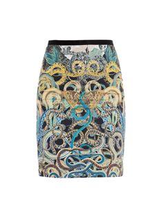 multi-tone Yelena snake-print skirt by Rika Print Skirt, Snake Print, Skirts, Stuff To Buy, Style, Fashion, Swag, Moda, Skirt