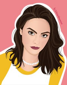Veronica lodge from riverdale illustration. Veronica Lodge Riverdale, Riverdale Archie, Bughead Riverdale, Riverdale Memes, Riverdale Wallpaper Iphone, Chandler Friends, Harry Styles Drawing, Betty & Veronica, Camilla Mendes