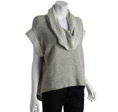 Fluxus marble cotton blend 'Jaylin' cowl neck short sleeve sweatshirt