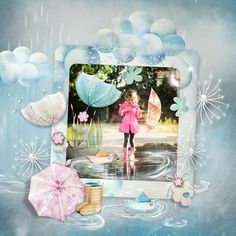 Umbrellas, Scrap, Bloom, Graphics, Painting, Art, Art Background, Graphic Design, Painting Art