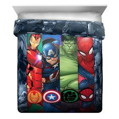Marvel avengers twin reversible comforter in 2019 products Marvel Bedding, Marvel Bedroom, Avengers Bedding, Boys Superhero Bedroom, Boys Bedroom Decor, Bedroom Stuff, Bedroom Ideas, Avengers Room, Marvel Avengers