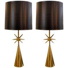 Brass Sputnik Table Lamps, 1950s
