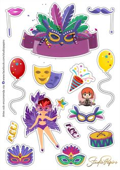 Durga, Cake Toppers, Clip Art, Invitations, Stickers, Party, Kids, Crafts, Carnival Birthday Parties