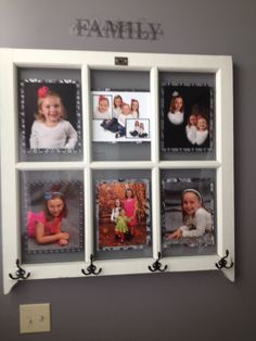 Another old window I turned into a picture frame and coat rack!