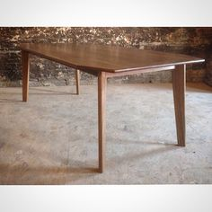 Perry And Co   Pittsburgh Custom Modern Furniture   Walnut Mid Century  Inspired Dining Table
