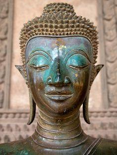 Bronze Buddha statue at Haw Phra Kaew - Vientiane, Laos