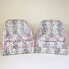 101 Dalmatians, pink piping and a short skirt. #chairs