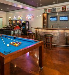 What's a man cave without video games and pool?