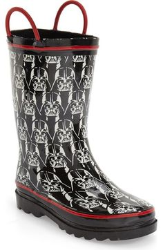 Western Chief 'Darth Vader' Glow in the Dark Rain Boot (Walker, Toddler, Little Kid & Big Kid) available at #Nordstrom