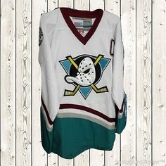 11e2d72aa33f4 Charlie Conway Hockey Stitched Jersey The Mighty Ducks Movie  96 White S -  XXXL