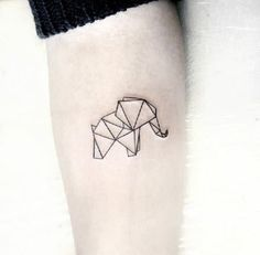 Elephants are super adorable and that's why they make perfect tattoo designs. Here are some of our fave small elephant tattoo designs we guarantee you'll love. Mini Tattoos, Trendy Tattoos, Cute Tattoos, New Tattoos, Small Tattoos, Tiny Tattoos With Meaning, Geometric Elephant Tattoo, Tattoos Geometric, Geometric Tattoo Design