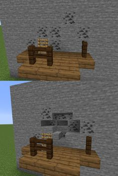 Using stone slabs and stairs, you can simulate actual mining going on with ores! Minecraft Farmen, Minecraft Images, Minecraft Medieval, Minecraft House Designs, Minecraft Construction, Minecraft Tutorial, Minecraft Blueprints, Minecraft Creations, Minecraft Crafts