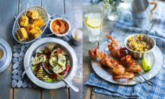 The food stands out beautifully. Lovely food styling