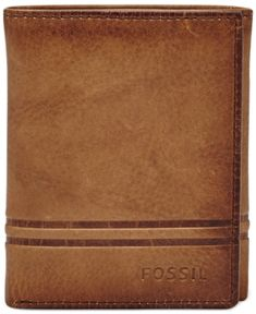 Fossil Men's Watts Leather Trifold Wallet - Brown