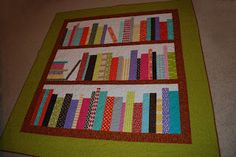 Tracie's lovely book shelf quilt