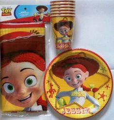 Image detail for -TOY STORY * JESSIE * PARTY 18 plates cups 2 table cover