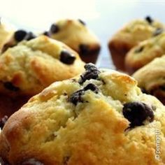 Muffin con gocce al gianduia