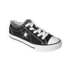 Kid's Converse One Star Canvas Oxford Shoe Black ($22) via Polyvore
