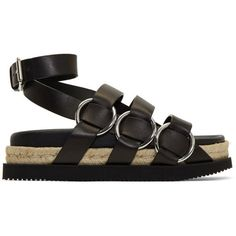 36974168adc Alexander Wang Black Bess Flatform Sandals ( 565) ❤ liked on Polyvore  featuring shoes