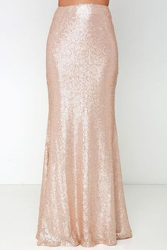Stardust Blush Sequin Maxi skirt love this and i wish i was taller so i could wear maxi skirts without me getting tangled and caught and falling over :( xx