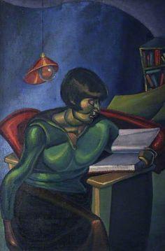 Woman Reading, 1922 by William McCance (Scottish 1894–1970)  ~Repinned Via Iain