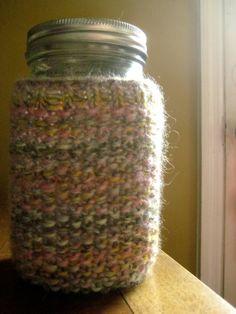 From Scratch: Turn a Mason Jar into a Travel Mug: Knit it a Cozy!