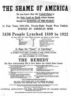 NAACP Dyer Anti-Lynching Bill