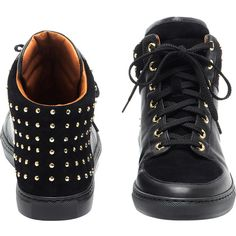 Mulberry Sneaker Black Studded Leather ($600) ❤ liked on Polyvore