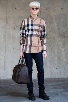 Dongdaemun Design Plaza, SEOUL. Paul Craddock, model. Burberry shirt, Rag & Bone pants, Timberland shoes, Topshop sunglasses, Daniel Wellington watch, bag from a shop in London. Photo Seongjoon Cho