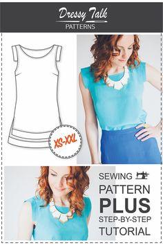 Beginner Top Patterns PDF Sewing Patterns by DressyTalkPatterns