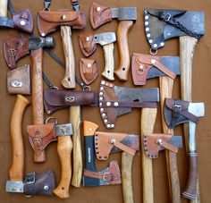 BushPorn™   Beautiful set of axes   www.bushattack.com