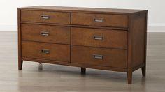 Arch Tea 6-Drawer Dresser | Crate and Barrel