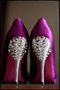 I'm not generally a fan of metallic spike heels, but the silhouette and crystal insets really set these apart!