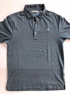 1d0b7a4311 Travis Mathew Dark Solid Blue Short Sleeve Golf Polo Shirt SIZE M  fashion   clothing