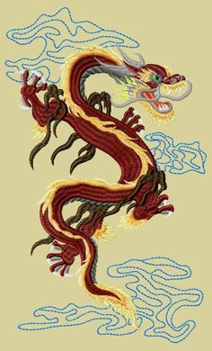 "Free embroidery design ""Dragon"" 