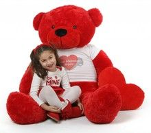 Giant Valentineu0027s Day Red Teddy Bear Bitsy Cuddles In A Personalized