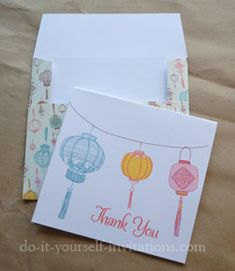 Say Thank You in style with our free printable thank you cards and matching envelope templates. Check out our growing gallery of free printables, templates, and DIY tutorials. Printable Thank You Cards, Free Printable Calendar, Free Printables, Diy Cards, Your Cards, Asian Cards, Partys, Card Envelopes, Homemade Cards