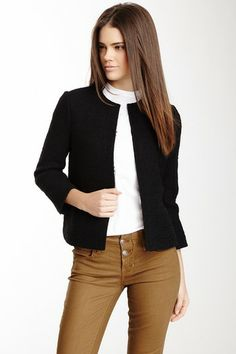 Tweed Cropped Jacket by Vince