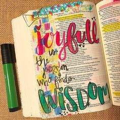 Don't be afraid to make mistakes or misspell words (joyful). Bible journaling is your time with the Lord. The hope is that our lives are a beautiful expression of Christ MORE than the margins of our Bibles. My goal is to spend time in the word, close my Bible, and walk away changed. What have you been learning lately in your time in the word? Share below! I'd love to hear. 🦋💜 #theinspirebible #biblejournaling #illustratedfaith #journalingbible