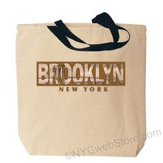 Brooklyn Photo Canvas Tote Bags Featuringan antique photo of the…