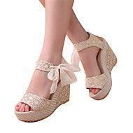 Mujer Zapatos Microfibra Verano Confort Sandalias Tacón Cuadrado Puntera abierta Lentejuela / Hebilla Plata / Rojo 2GYZZ0