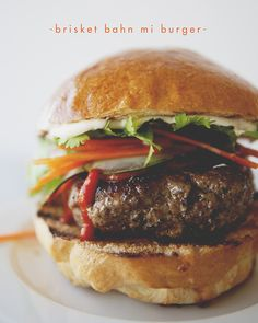 BRISKET BAHN MI BURGER - The Kitchy Kitchen