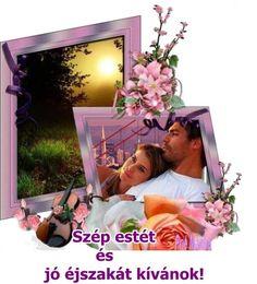 Szép estét és jó éjszakát kívánok minden kedves csoport társaimnak! Good Morning Good Night, Sweet Dreams, Polaroid Film, Album, Couples, Frame, Books, Profile, Picture Frame