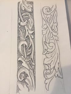 Leather Engraving, Leather Tooling, Mexican Art Tattoos, Ohms Law, Leather Working Patterns, Leather Stamps, Wood Burning Patterns, Carving Designs, Scroll Design