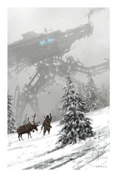 """Winter Walker"" by Jakub 'Mr. Werewolf' Rozalski - Limited Edition, Fine Art Print"