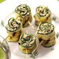 Courgetterolletjes met tonijn                   www.voeltgoed.nl