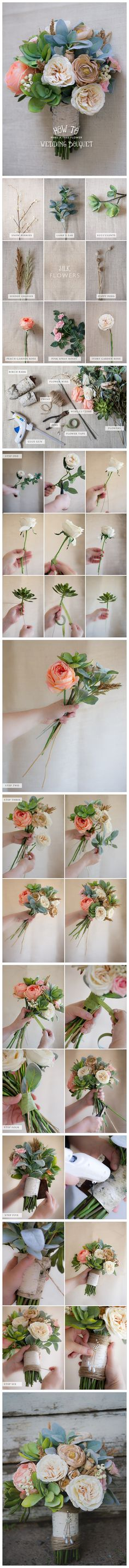 【Wedding DIY】Silk Wedding Bouquet